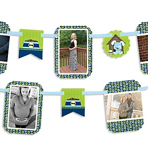 Boy Puppy Dog - Baby Shower Photo Bunting Banner