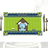 Boy Puppy Dog - Personalized Baby Shower Placemats