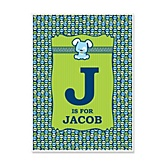 Boy Puppy Dog - Personalized Baby Shower Poster Gifts