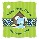 Boy Puppy Dog - Personalized Baby Shower Tags - 20 Count