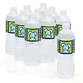 Boy Puppy Dog - Personalized Baby Shower Water Bottle Labels