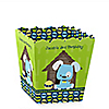 Boy Puppy Dog - Personalized Birthday Party Candy Boxes