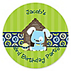 Boy Puppy Dog - Personalized Birthday Party Sticker Labels - 24 ct