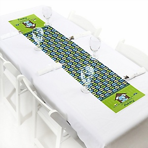 Boy Puppy Dog - Personalized Baby Shower Petite Table Runners