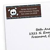 Skullitude™ - Baby Boy Skull - Personalized Baby Shower Return Address Labels - 30 ct