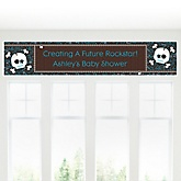 Skullitude™ - Baby Boy Skull - Personalized Baby Shower Banner