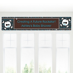 Skullitude™ - Baby Boy Skull - Personalized Baby Shower Banners