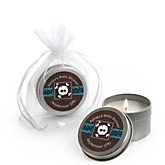 Skullitude™ - Baby Boy Skull - Candle Tin Personalized Baby Shower Favors