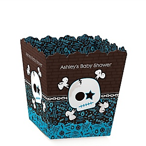 Skullitude™ - Baby Boy Skull - Personalized Baby Shower Candy Boxes
