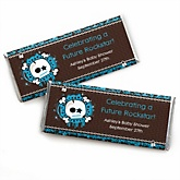 Skullitude™ - Baby Boy Skull - Personalized Baby Shower Candy Bar Wrapper