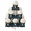 Skullitude™ - Baby Boy Skull - Baby Shower Cupcake Stand and 13 Cupcake Wrappers