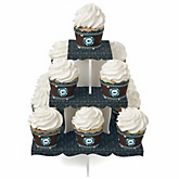 Skullitude™ - Baby Boy Skull - Baby Shower Cupcake Stand & 13 Cupcake Wrappers