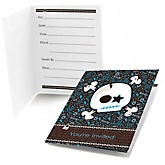 Skullitude™ - Baby Boy Skull - Baby Shower Fill In Invitations - 8 ct