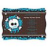 Skullitude™ - Baby Boy Skull - Personalized Baby Shower Invitations