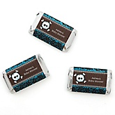 Skullitude™ - Baby Boy Skull - Personalized Baby Shower Mini Candy Bar Wrapper Favors - 20 ct