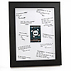 Skullitude™ - Baby Boy Skull - Personalized Baby Shower Signature Mat Gift