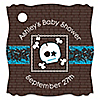 Skullitude™- Baby Boy Skull - Personalized Baby Shower Tags - 20 ct