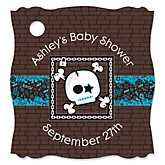 Skullitude™ - Baby Boy Skull - Personalized Baby Shower Tags - 20 Count