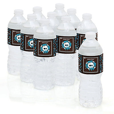 personalized party water bottle sticker labels