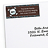 Skullitude™ - Boy Skull - Personalized Birthday Party Return Address Labels - 30 ct