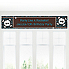 Skullitude™ - Boy Skull - Personalized Birthday Party Banners