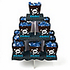 Skullitude™ - Boy Skull - Birthday Party Candy Stand and 13 Candy Boxes