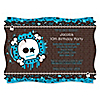 Skullitude™ - Boy Skull - Personalized Birthday Party Invitations