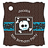 Skullitude™ - Boy Skull - Personalized Birthday Party Tags - 20 ct