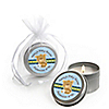Baby Boy Teddy Bear - Personalized Baby Shower Candle Tin Favors