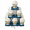 Baby Boy Teddy Bear - Baby Shower Cupcake Stand and 13 Cupcake Wrappers