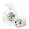 Baby Boy Teddy Bear - Personalized Baby Shower Lip Balm Favors