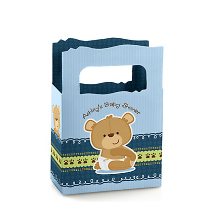 baby boy teddy bear personalized baby shower mini favor boxes