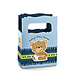 Baby Boy Teddy Bear - Personalized Baby Shower Mini Favor Boxes