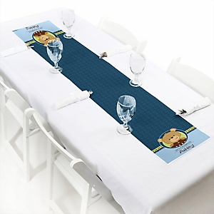 Baby Boy Teddy Bear - Personalized Baby Shower Petite Table Runners