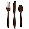 Brown - Baby Shower Forks, Knives, Spoons - 24 ct