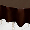 Brown - Baby Shower Plastic Round Tablecovers