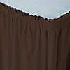 Brown - Baby Shower Plastic Table Skirts