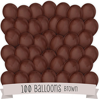 Brown - Birthday Party Latex Balloons -