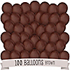 Brown - Birthday Party Latex Balloons - 100 ct