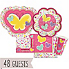 Playful Butterfly and Flowers - Baby Shower 48 Big Dot Bundle