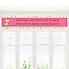Playful Butterfly and Flowers - Personalized Baby Shower Banners