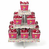 Playful Butterfly and Flowers - Baby Shower Candy Stand & 13 Fill Your Own Candy Boxes
