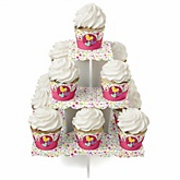 Playful Butterfly and Flowers - Baby Shower Cupcake Stand & 13 Cupcake Wrappers