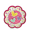 Playful Butterfly and Flowers - Baby Shower Dessert Plates - 8 ct