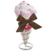 Playful Butterfly and Flowers - Baby Shower Diaper Bouquets