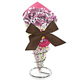 Playful Butterfly and Flowers - Baby Shower Candy Bouquets with Frooties