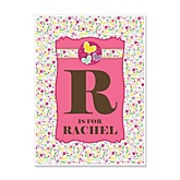 Playful Butterfly and Flowers - Personalized Baby Shower Poster Gifts