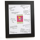 Playful Butterfly and Flowers - Personalized Baby Shower Print with Signature Mat