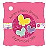 Playful Butterfly and Flowers - Personalized Baby Shower Tags - 20 ct