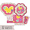 Playful Butterfly and Flowers - Birthday Party 32 Big Dot Bundle